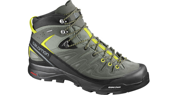 Salomon X Alp LTR GTX Mid Hiking Shoes Men Shadow/Castor Gray/Lime Punch